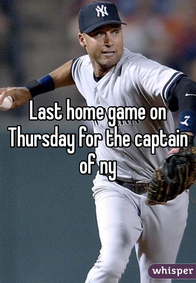 Last home game on Thursday for the captain of ny