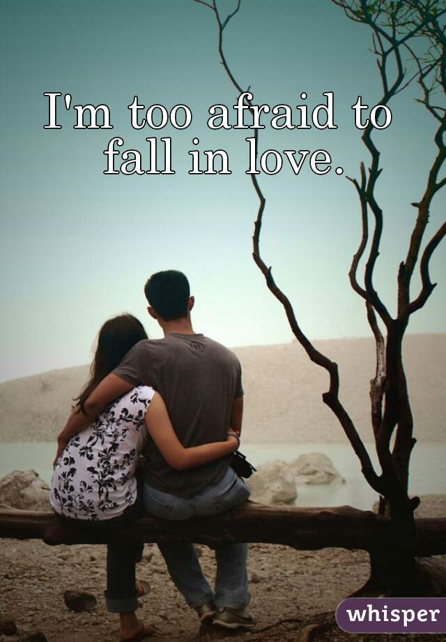 I'm too afraid to  fall in love.