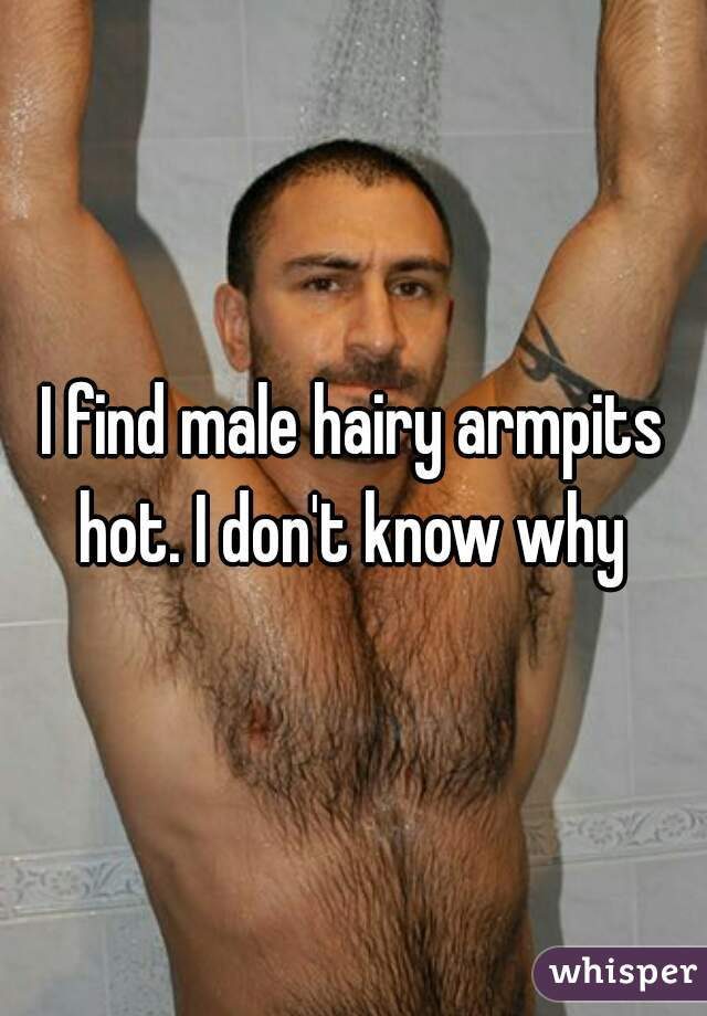 I find male hairy armpits hot. I don't know why