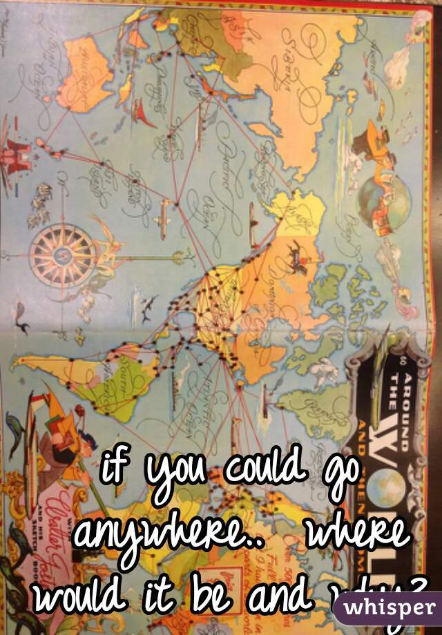 if you could go anywhere..  where would it be and why?