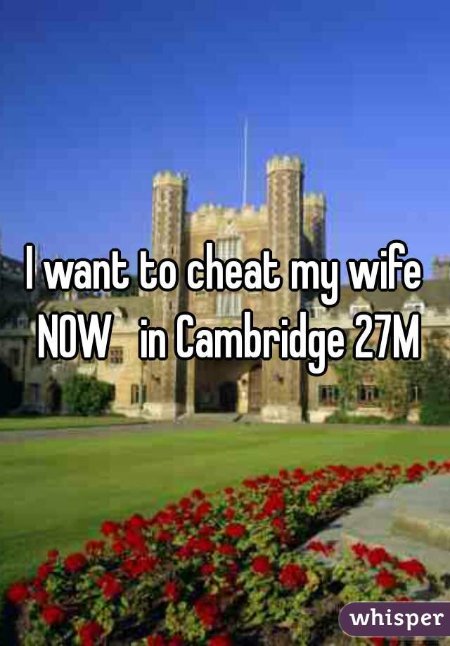 I want to cheat my wife NOW   in Cambridge 27M
