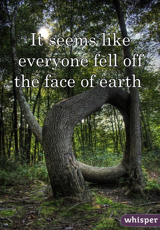 It seems like everyone fell off the face of earth