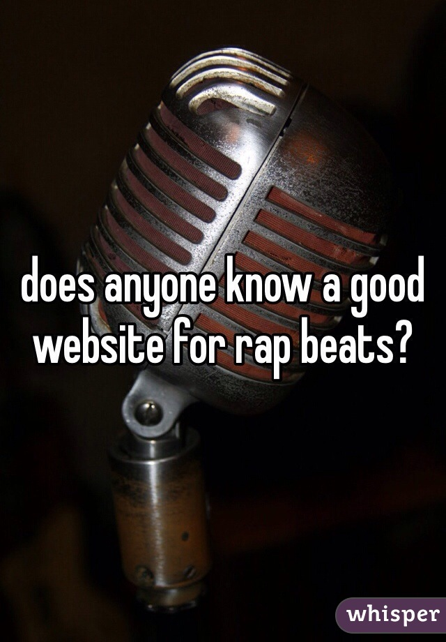 does anyone know a good website for rap beats?