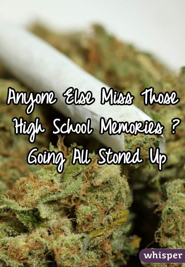 Anyone Else Miss Those High School Memories ? Going All Stoned Up