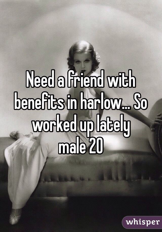 Need a friend with benefits in harlow... So worked up lately  male 20