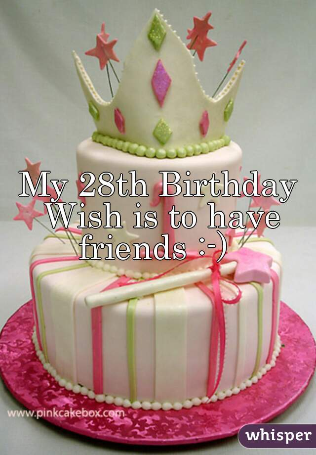 My 28th Birthday Wish is to have friends :-)