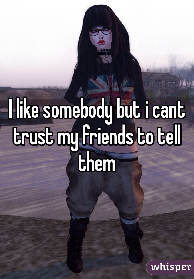 I like somebody but i cant trust my friends to tell them