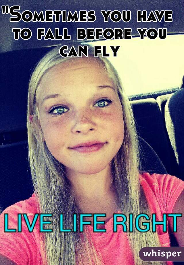 """""""Sometimes you have to fall before you can fly"""""""