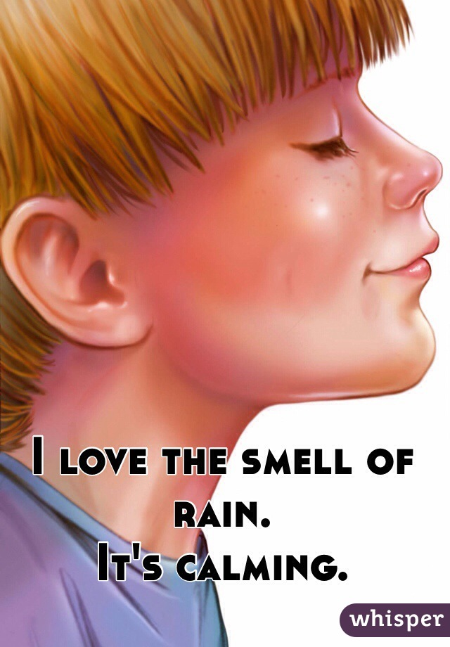 I love the smell of rain.  It's calming.