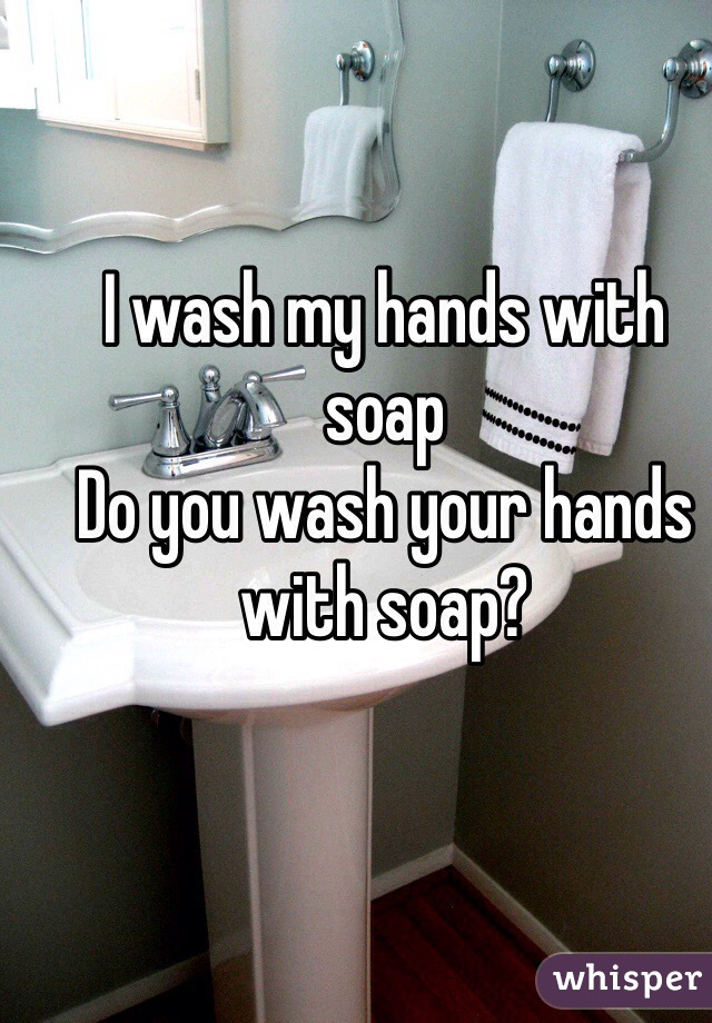 I wash my hands with soap  Do you wash your hands with soap?