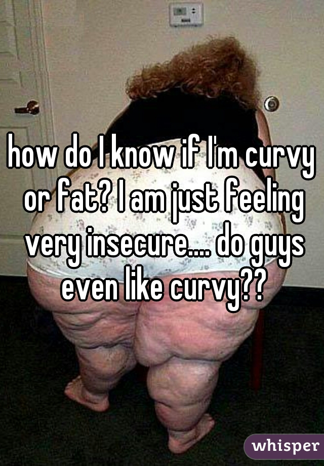 how do I know if I'm curvy or fat? I am just feeling very insecure.... do guys even like curvy??