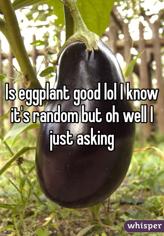 Is eggplant good lol I know it's random but oh well I just asking