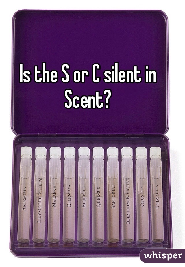 Is the S or C silent in Scent?