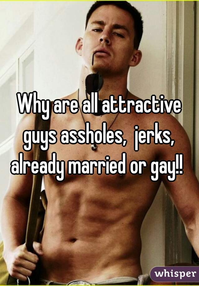 Why are all attractive guys assholes,  jerks,  already married or gay!!