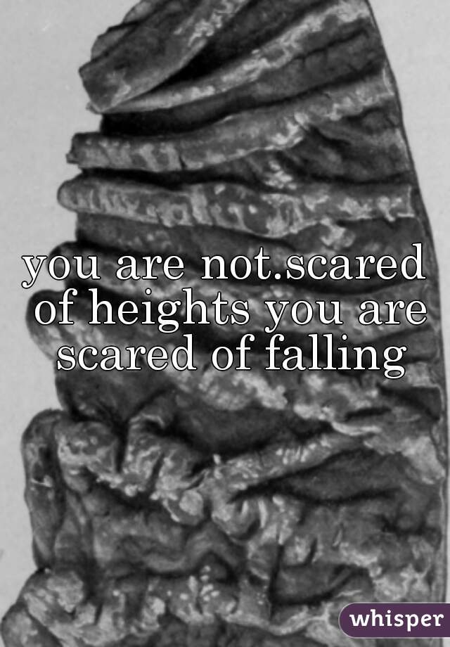 you are not.scared of heights you are scared of falling