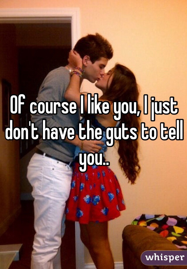 Of course I like you, I just don't have the guts to tell you..