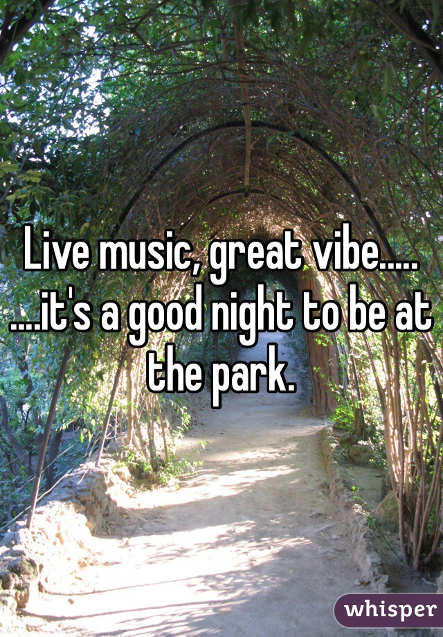 Live music, great vibe..... ....it's a good night to be at the park.