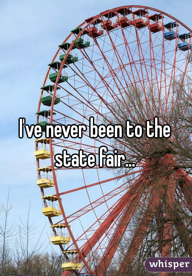I've never been to the state fair...
