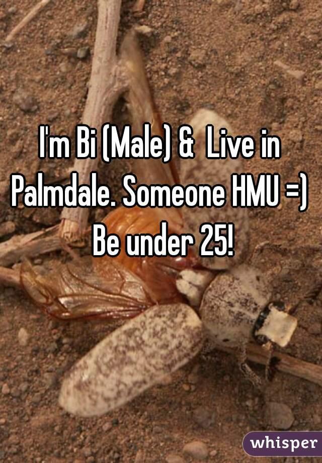 I'm Bi (Male) &  Live in Palmdale. Someone HMU =)  Be under 25!