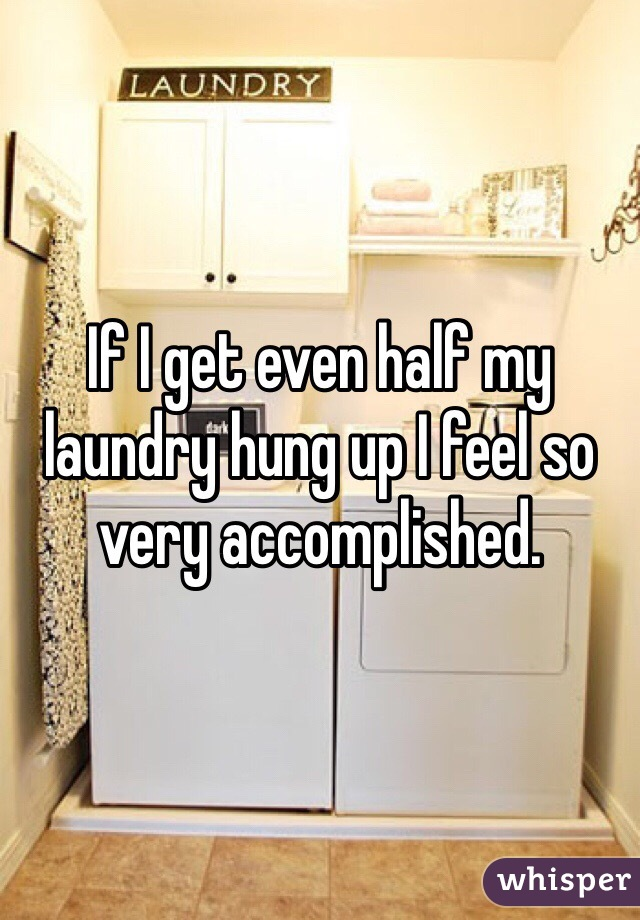 If I get even half my laundry hung up I feel so very accomplished.