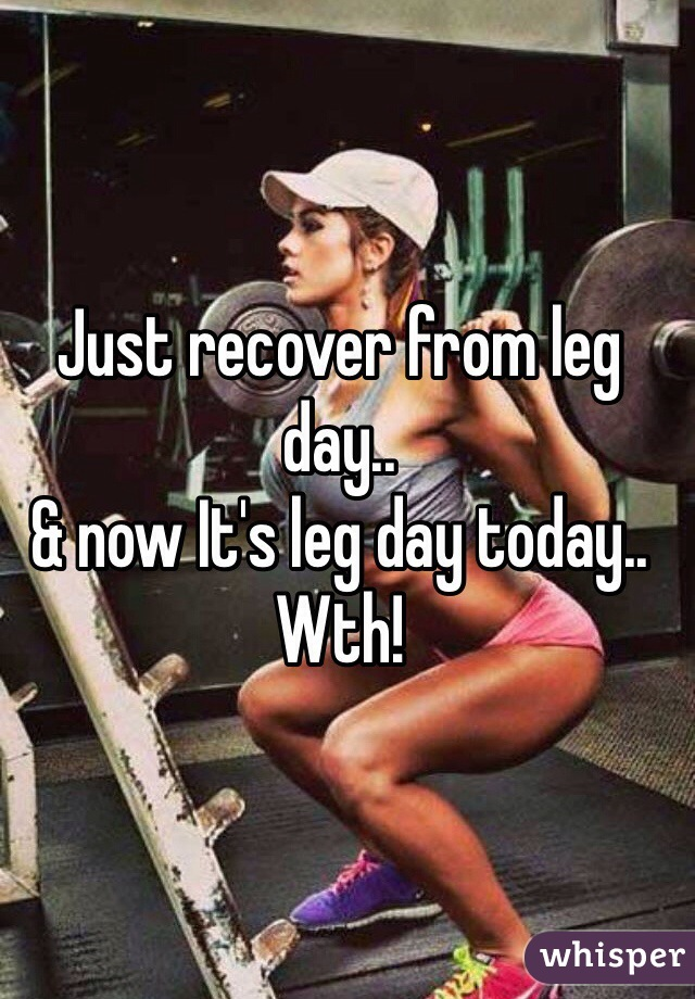 Just recover from leg day..  & now It's leg day today.. Wth!