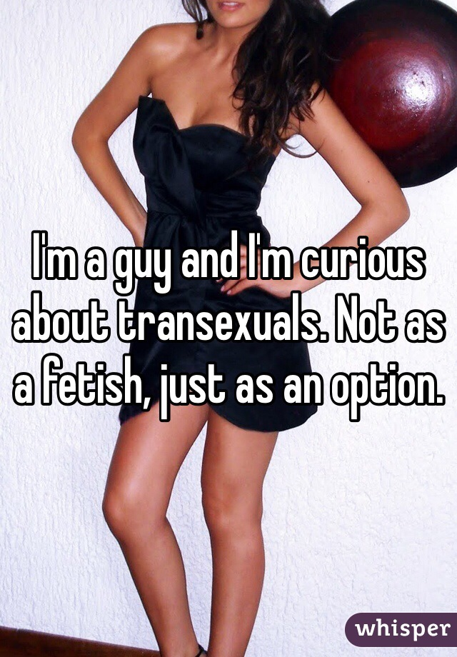 I'm a guy and I'm curious about transexuals. Not as a fetish, just as an option.