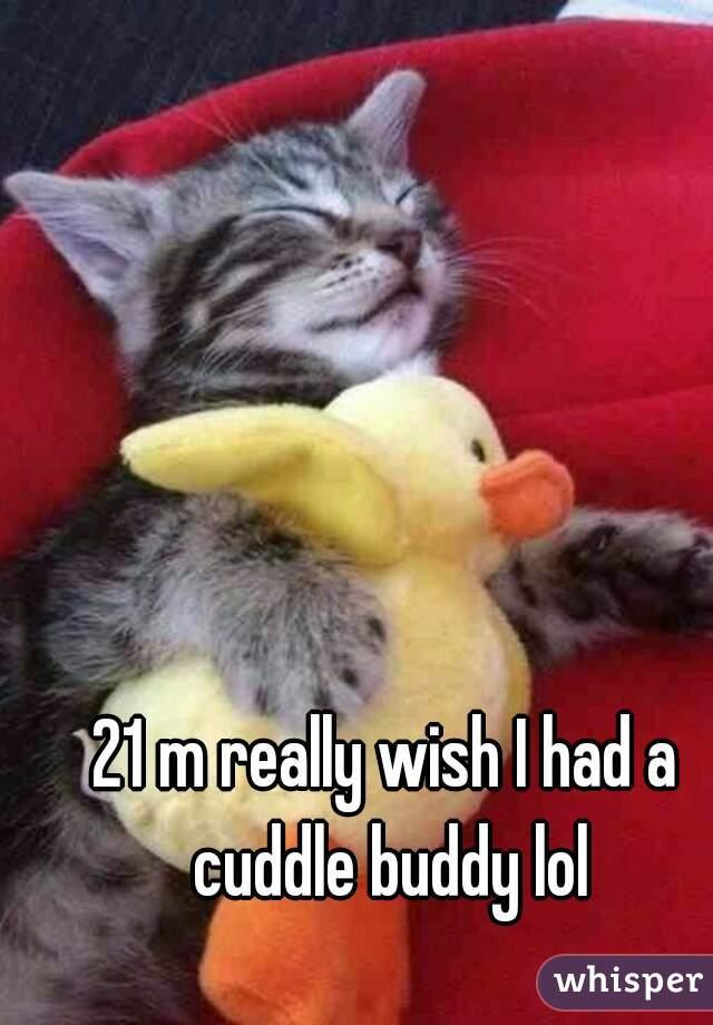 21 m really wish I had a cuddle buddy lol