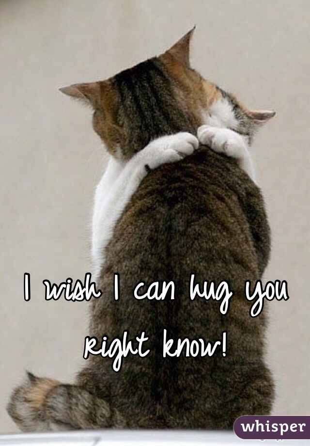 I wish I can hug you right know!