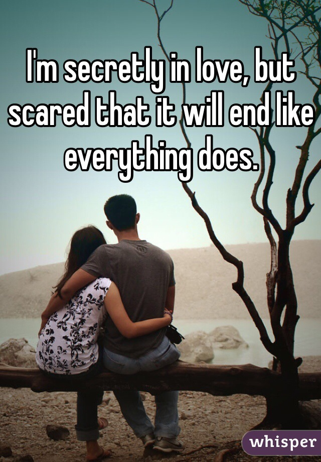 I'm secretly in love, but scared that it will end like everything does.