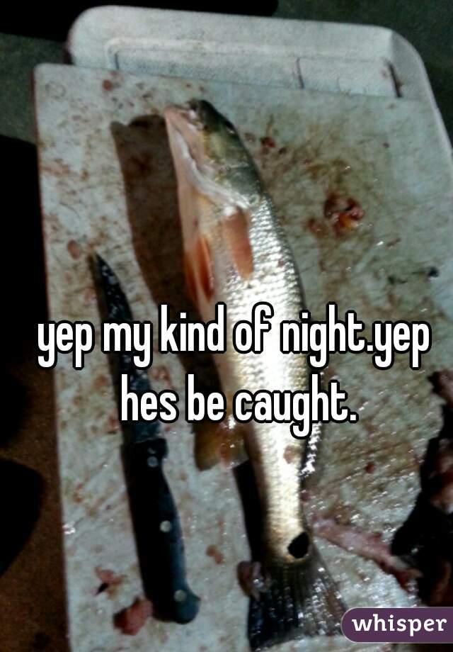 yep my kind of night.yep hes be caught.