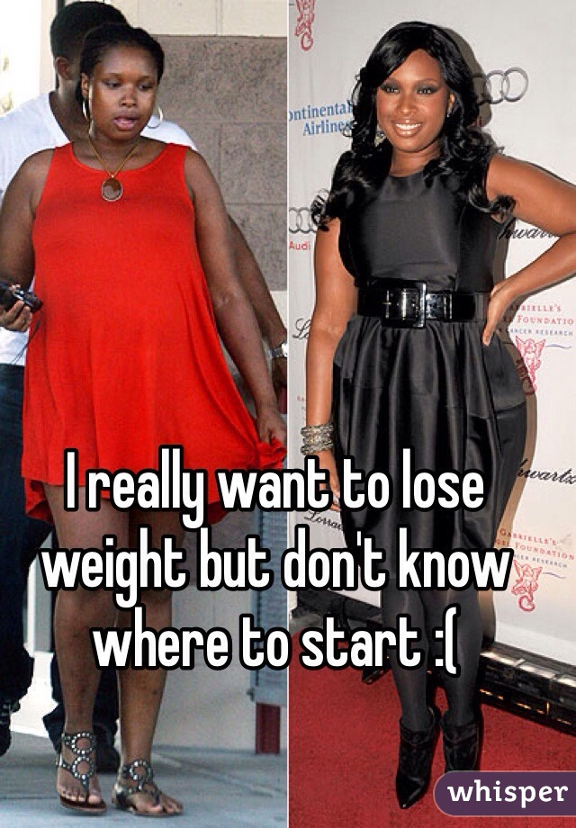 I really want to lose weight but don't know where to start :(