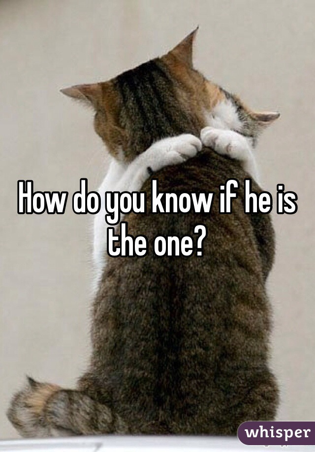 How do you know if he is the one?