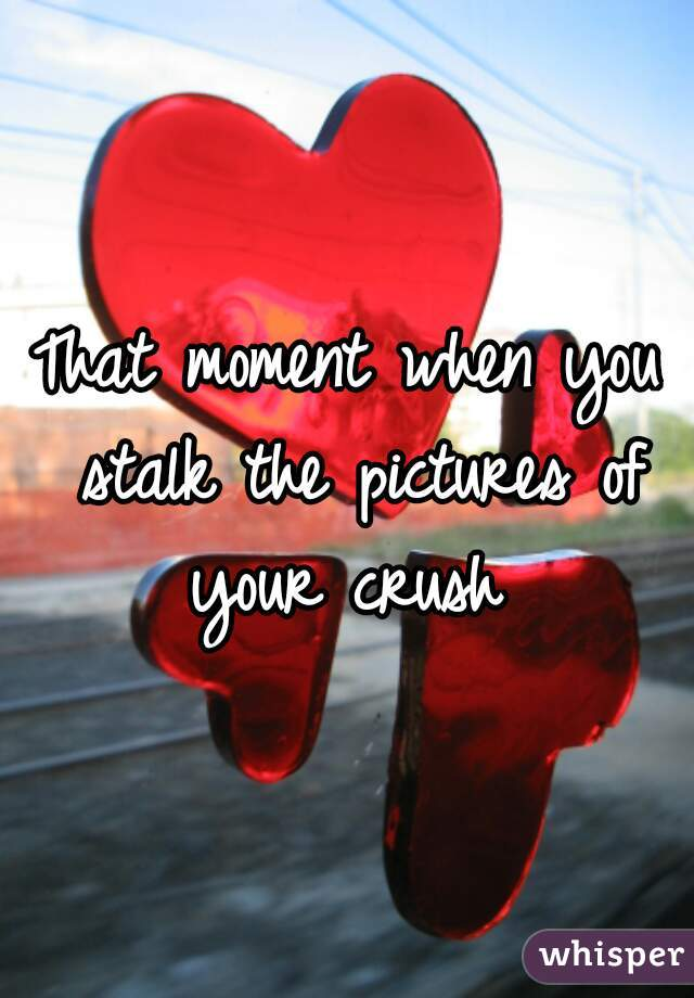 That moment when you stalk the pictures of your crush