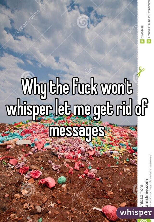 Why the fuck won't whisper let me get rid of messages