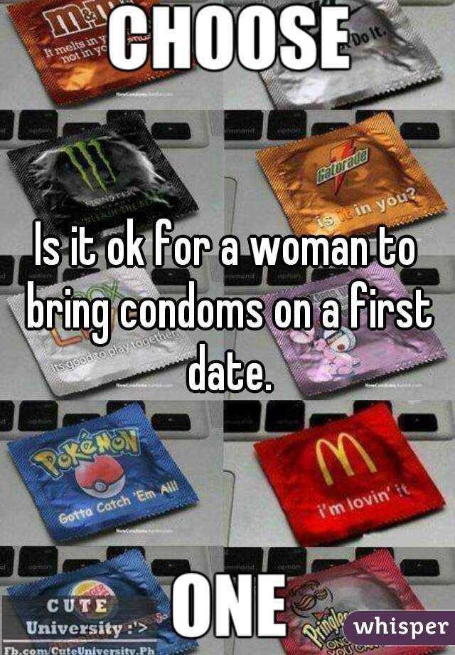 Is it ok for a woman to bring condoms on a first date.