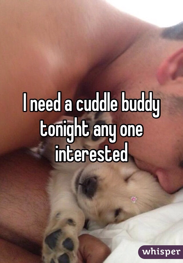 I need a cuddle buddy tonight any one interested