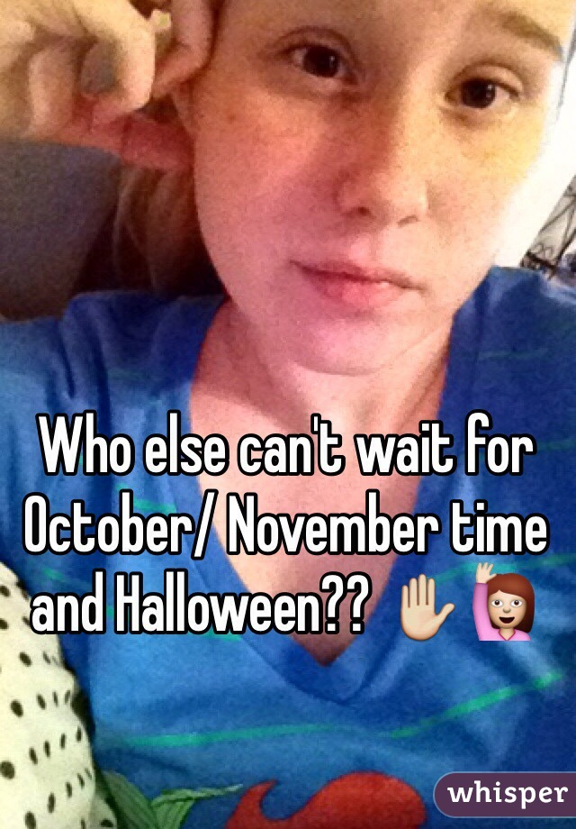 Who else can't wait for October/ November time and Halloween?? ✋🙋