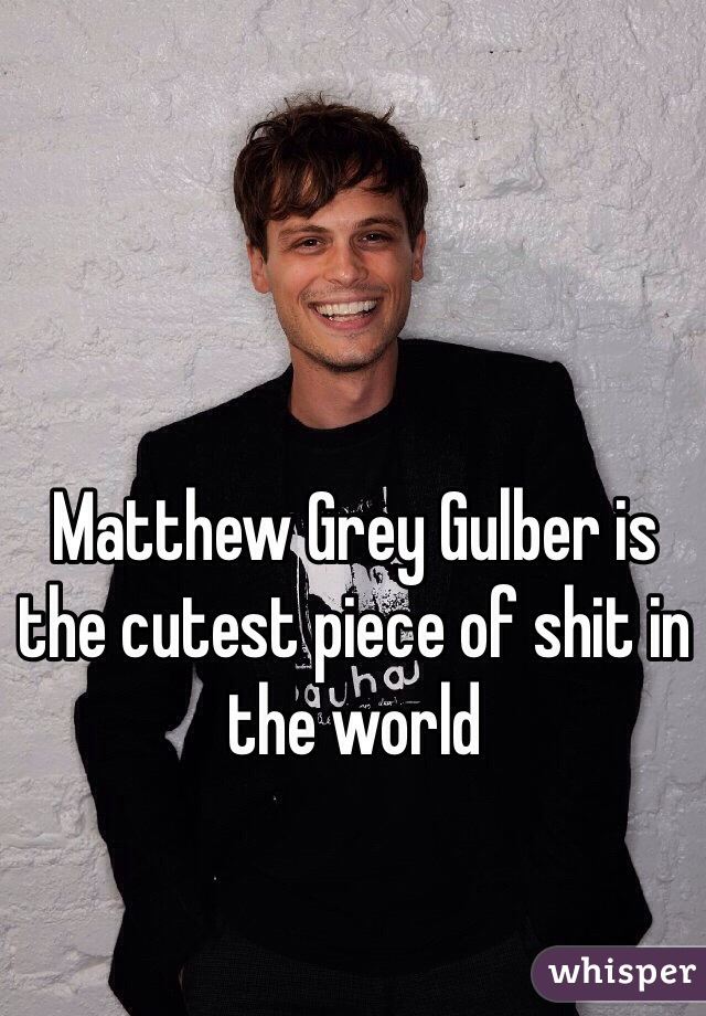 Matthew Grey Gulber is the cutest piece of shit in the world