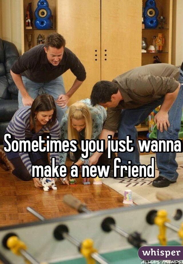 Sometimes you just wanna make a new friend