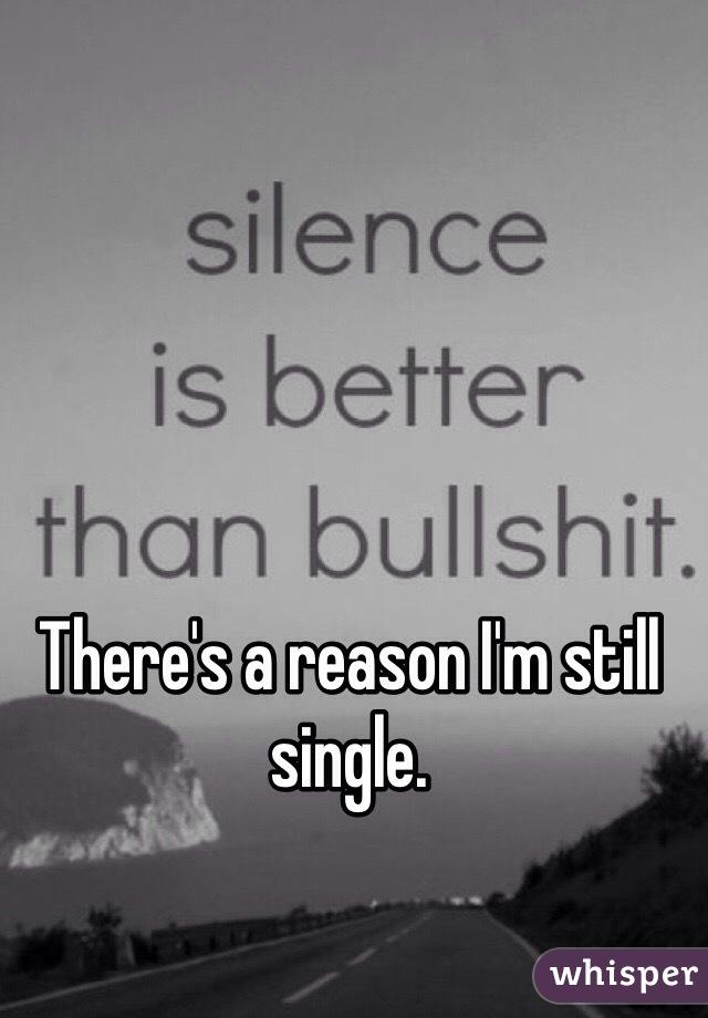 There's a reason I'm still single.