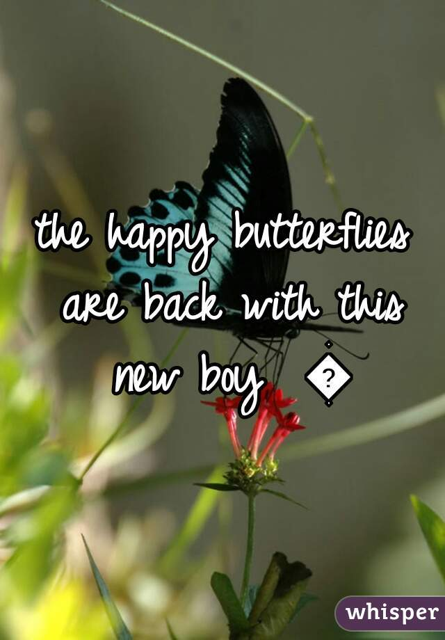 the happy butterflies are back with this new boy  🌹