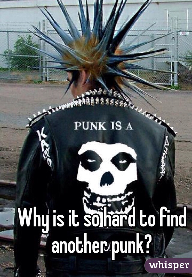 Why is it so hard to find another punk?