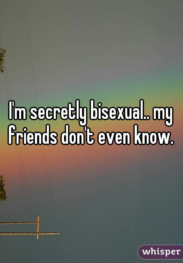 I'm secretly bisexual.. my friends don't even know.