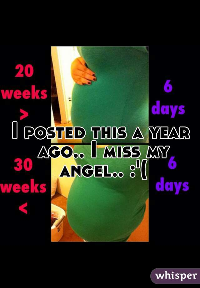I posted this a year ago.. I miss my angel.. :'(