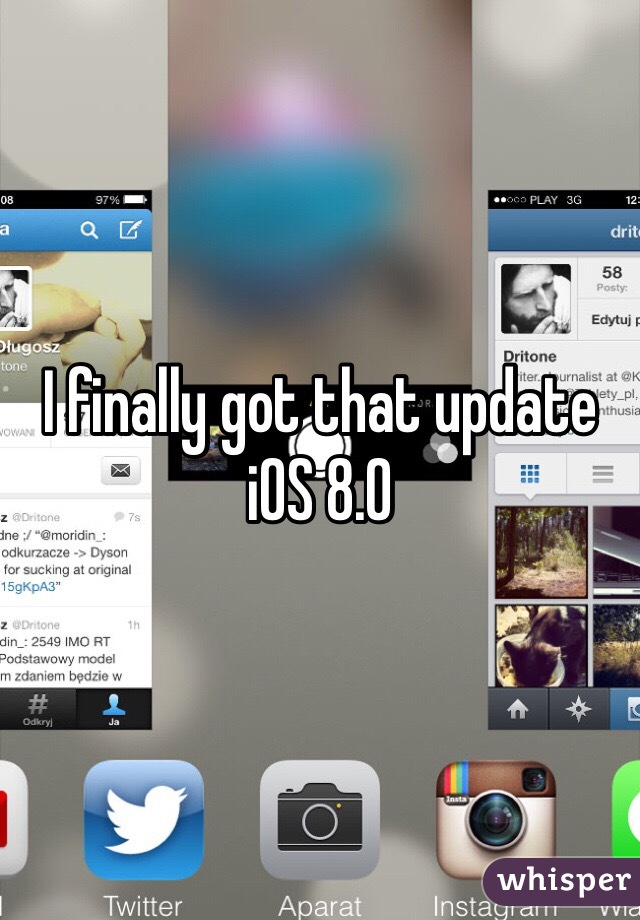 I finally got that update iOS 8.0