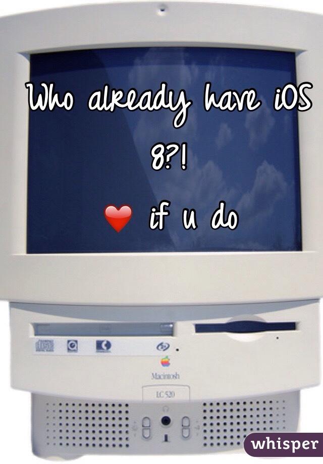 Who already have iOS 8?! ❤️ if u do