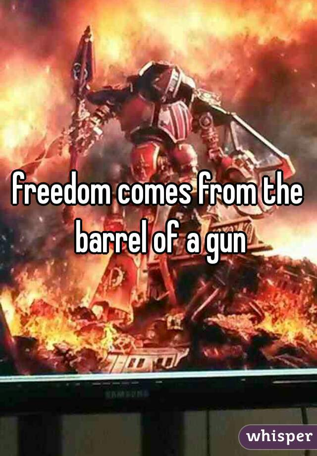 freedom comes from the barrel of a gun