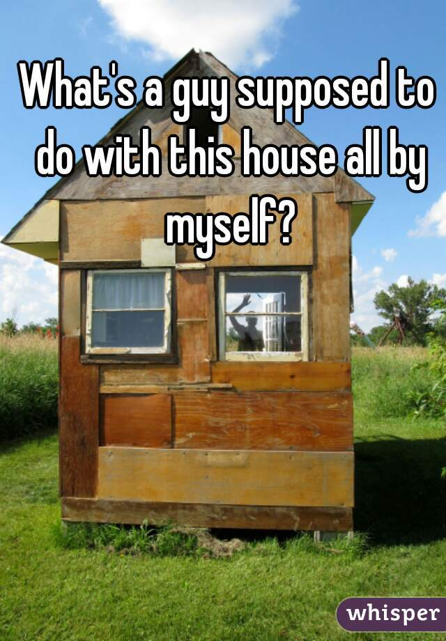 What's a guy supposed to do with this house all by myself?