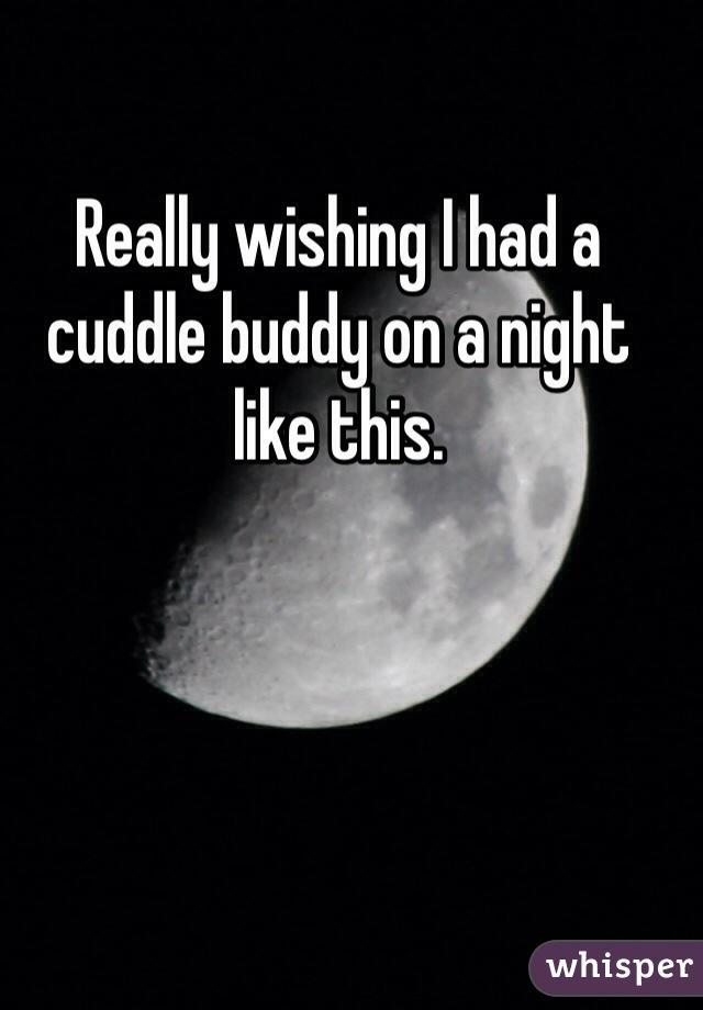 Really wishing I had a cuddle buddy on a night like this.