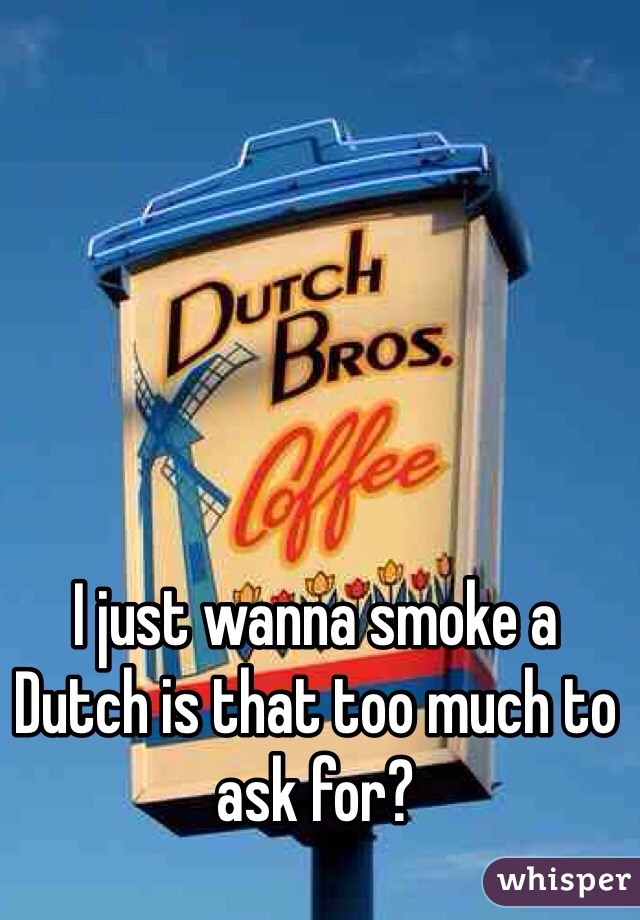 I just wanna smoke a Dutch is that too much to ask for?